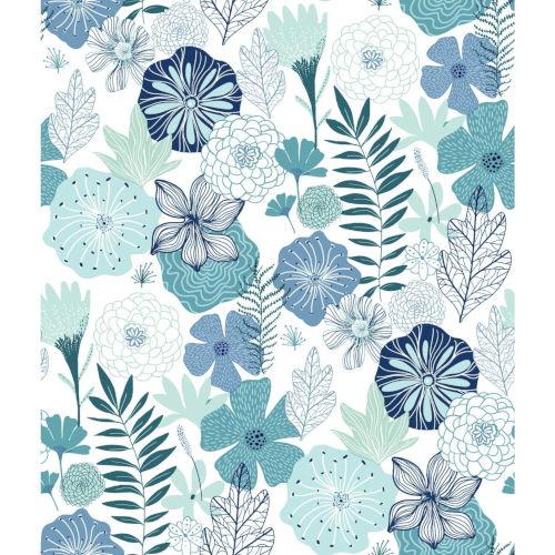 Perennial Blooms Peel and Stick Wallpaper