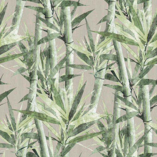 Lucky Bamboo Beige And Green Peel and Stick Wallpaper