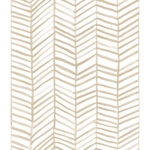 Cat Coquillette Herringbone Tan Peel And Stick Wallpaper – SAMPLE SWATCH ONLY