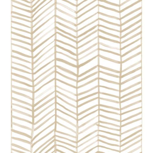 Cat Coquillette Herringbone Tan Peel And Stick Wallpaper
