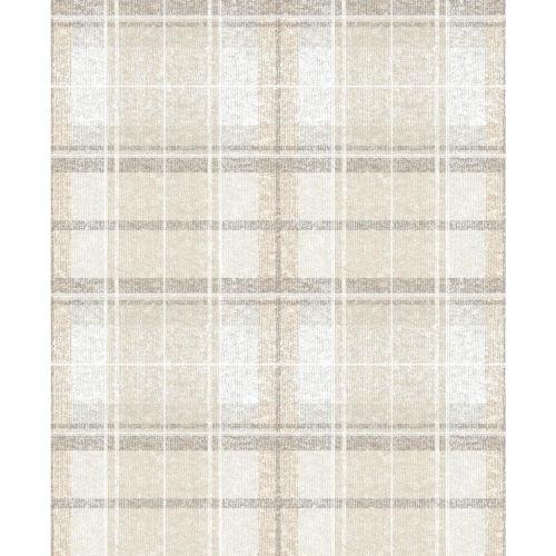 Tweed Plaid Beige Peel And Stick Wallpaper