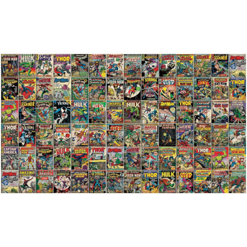 Marvel Comic Cover Yellow Peel And Stick Murals