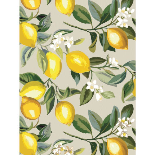 Lemon Zest Beige And Yellow Peel and Stick Wallpaper