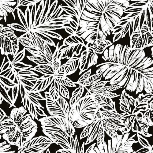 home decor ideas use tropical leaves.htm york wallcoverings batik tropical leaf black peel and stick  batik tropical leaf black peel