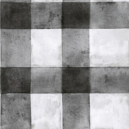 Buffalo Plaid Black Peel And Stick Wallpaper