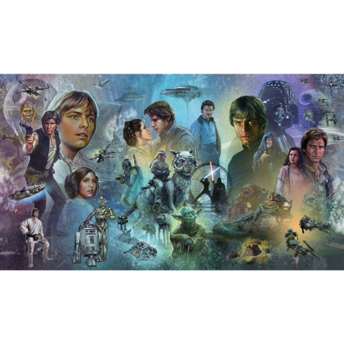 Star Wars Original Trilogy Blue And Purple Peel And Stick Murals