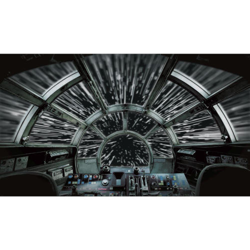 Star Wars Millennium Falcon Black And Gray Peel And Stick Murals