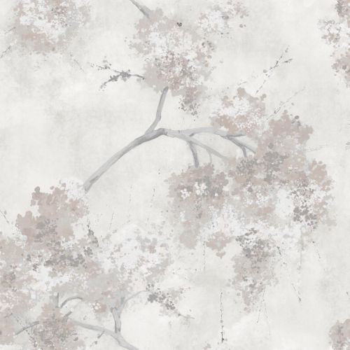 Weeping Cherry Tree Blossom Beige Peel And Stick Wallpaper