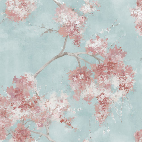 Weeping Cherry Tree Blossom Pink Peel And Stick Wallpaper