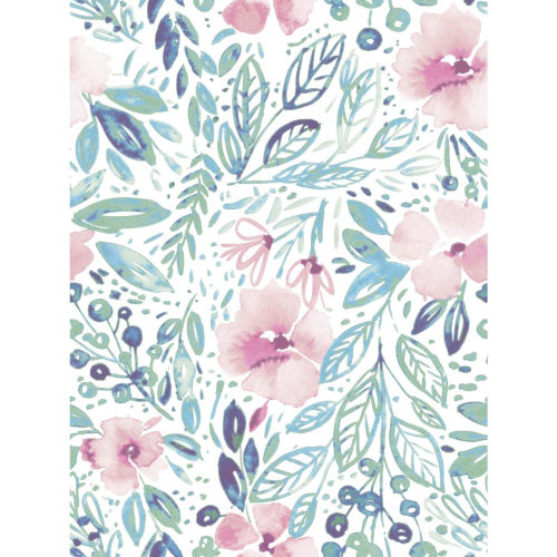 Clara Jean April Shower Pink And Green Peel And Stick Wallpaper