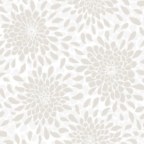 Toss The Bouquet Beige Peel And Stick Wallpaper