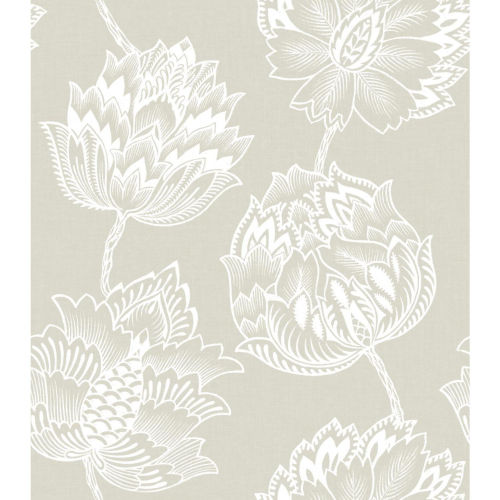 Batik Jacobean Beige And White Peel And Stick Wallpaper