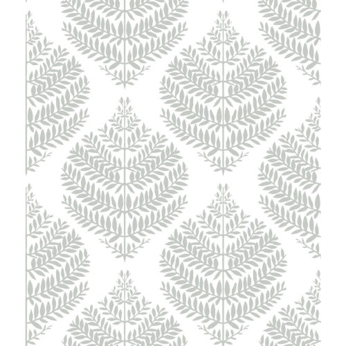 Hygge Fern Damask Gray And White Peel And Stick Wallpaper