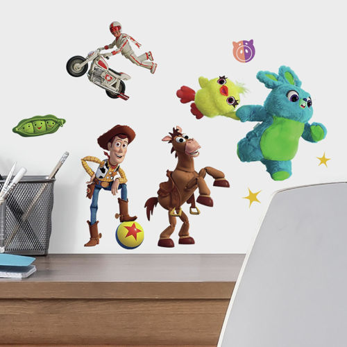 Toy Story 4 Green, Blue, Yellow Peel and Stick wall Decal