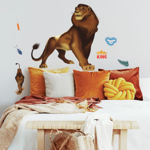 The Lion King Simba Brown Peel and Stick Gaint Wall Decal