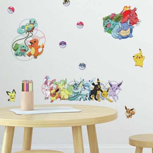 Pokemon Favorite Character Yellow, Red And Blue Peel and Stick wall Decal