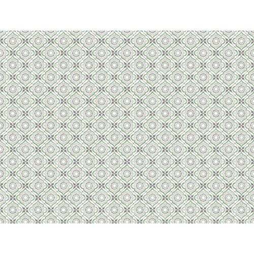 Small Prints Resource Library Green Two-Inch Zellige Tile Wallpaper