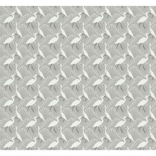 Small Prints Resource Library Gray Two-Inch Evening Egret Wallpaper
