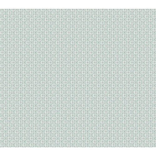 Small Prints Resource Library Green Two-Inch Circle Mosaic Wallpaper