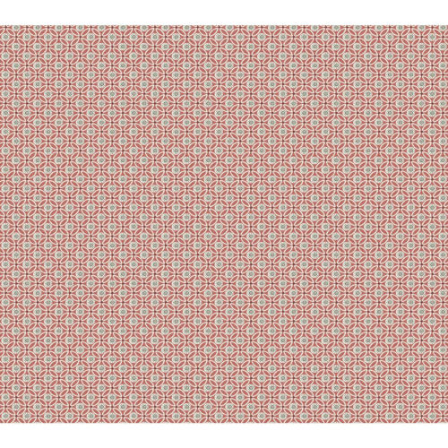 Small Prints Resource Library Red Two-Inch Circle Mosaic Wallpaper