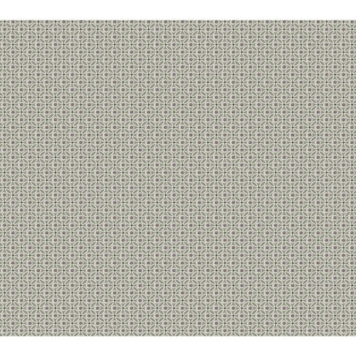 Small Prints Resource Library Taupe Two-Inch Circle Mosaic Wallpaper - SAMPLE SWATCH ONLY