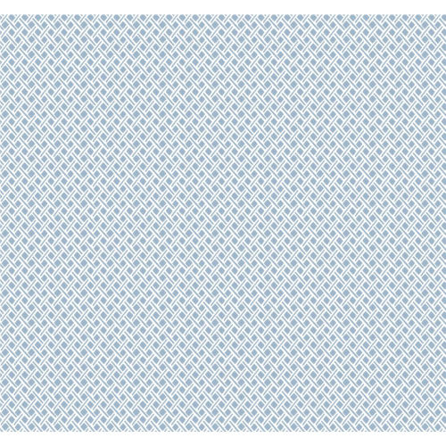 Small Prints Resource Library Blue Two-Inch Wicker Weave Wallpaper