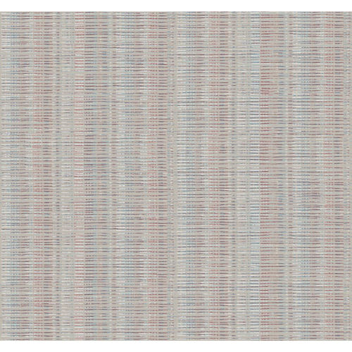 Stripes Resource Library Beige, Red and Blue Broken Boucle Stripe Wallpaper