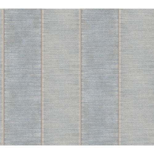 Stripes Resource Library Blue and Beige Southwest Stripe Wallpaper – SAMPLE SWATCH ONLY