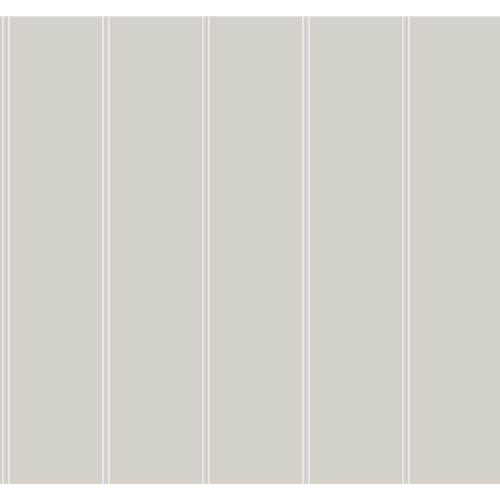 Stripes Resource Library Cream and Gray Social Club Stripe Wallpaper
