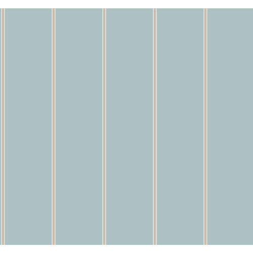 Stripes Resource Library Light Blue and Gold Social Club Stripe Wallpaper