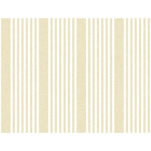 Stripes Resource Library Yellow French Linen Stripe Wallpaper