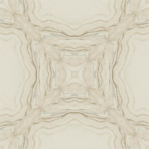Antonina Vella Natural Opalescence Stone Kaleidoscope Beige Wallpaper