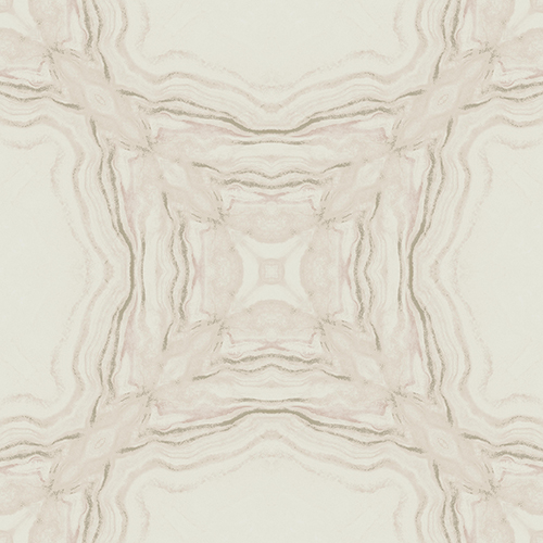 Antonina Vella Natural Opalescence Stone Kaleidoscope Soft Pink Wallpaper