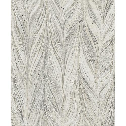 Antonina Vella Natural Opalescence Ebru Marble Cool Gray Wallpaper