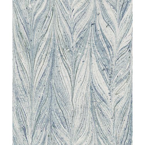 Antonina Vella Natural Opalescence Ebru Marble Bright Blue Wallpaper– SAMPLE SWATCH ONLY