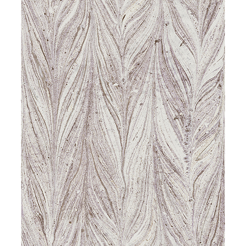 Antonina Vella Natural Opalescence Ebru Marble Purple Wallpaper