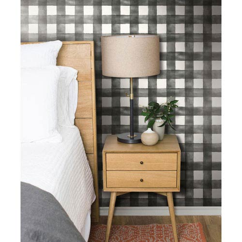 Watercolor Check Removable Wallpaper