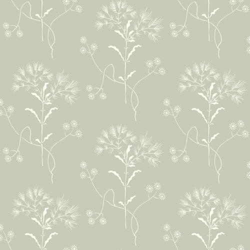 Wildflower Cupola (Light Grey) and White Wallpaper