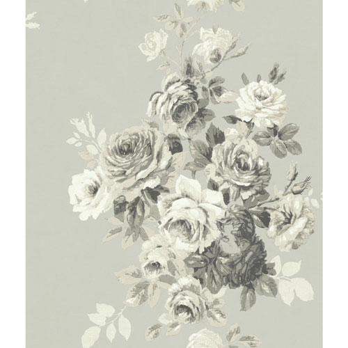Magnolia Home Tea Rose Warm Grey Wallpaper - SAMPLE SWATCH ONLY