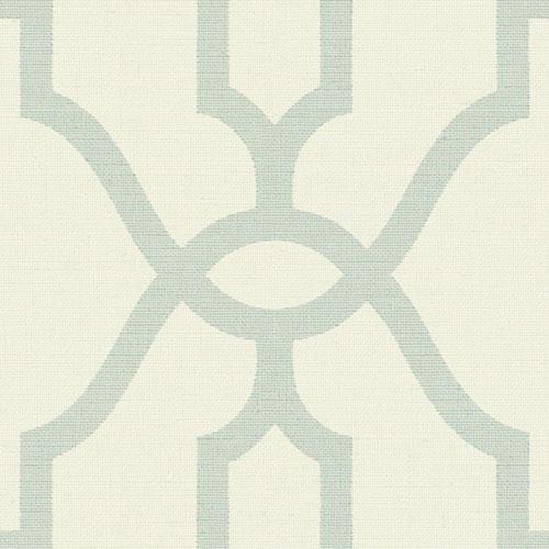 Woven Trellis Eggshell Blue on Cream Wallpaper