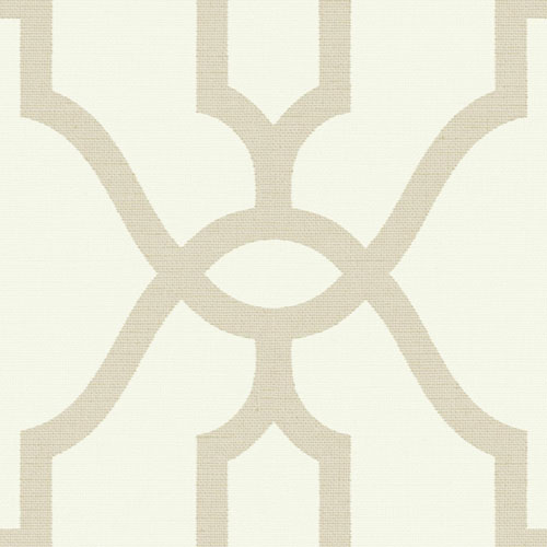 Woven Trellis Embossed Letter (Beige) Wallpaper