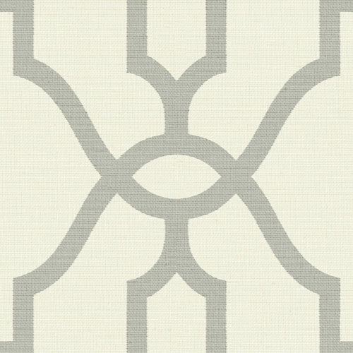 Woven Trellis Quarry Grey on Cream Wallpaper - SAMPLE SWATCH ONLY