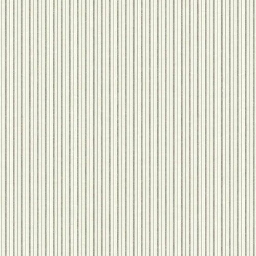French Ticking Charcoal and Black Wallpaper