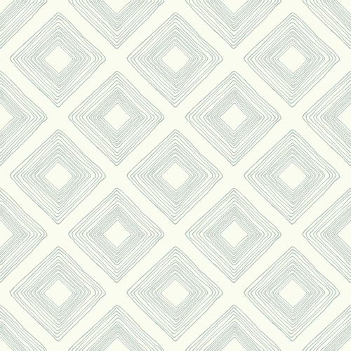 Magnolia Home Diamond Sketch Eggshell Blue Wallpaper - SAMPLE SWATCH ONLY