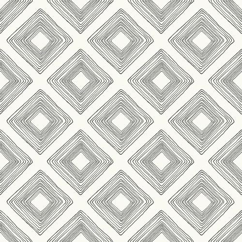 Magnolia Home Diamond Sketch Black And White Wallpaper