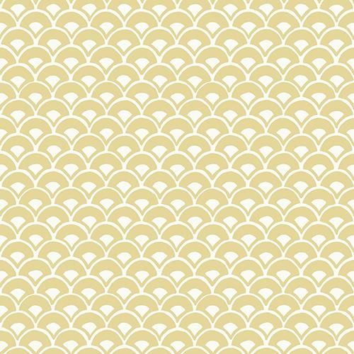Stacked Scallops Yellow Wallpaper