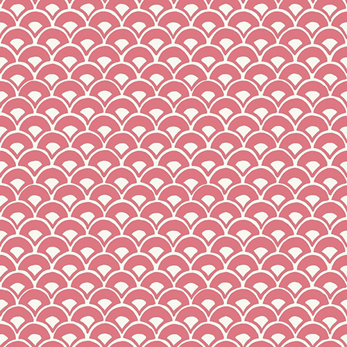 Stacked Scallops Pink Wallpaper - SAMPLE SWATCH ONLY