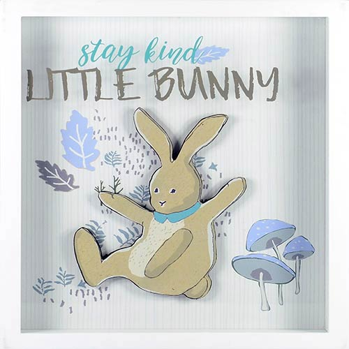 Linden Ave Stay Kind Little Bunny Shadowbox