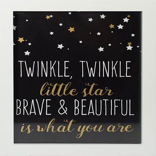 Brave and Beautiful Framed Artwork with Metallic Screenprint