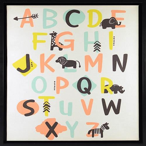 Alphabet Framed Linen Float